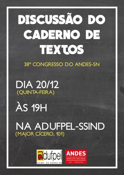 Caderno de textos 38� Congresso ANDES-SN
